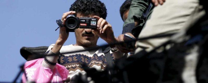 Journalist med kamera i Jemen