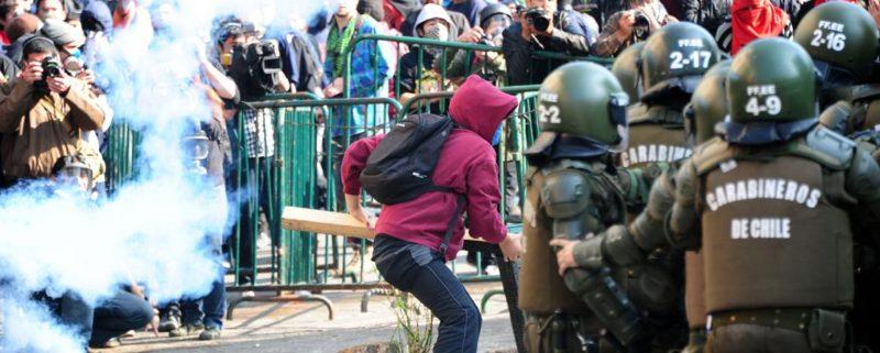 Demonstranter i Chile