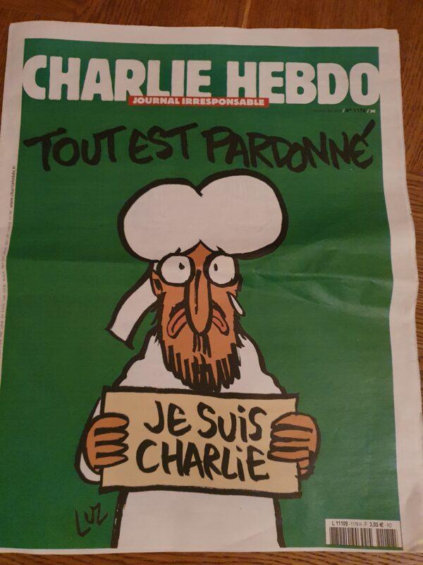 Omslag tidning Charlie Hebdo
