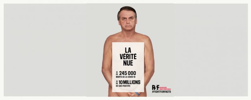 fotomontage Bolsonaro Naked truth